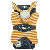Knuffeldoekje Keptin-Jr Girly Large Orange met naam