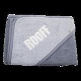 badcape grijs met logo Rooff geborduurd