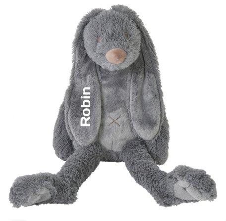 Knuffel Rabbit Richie Deep Grey met naam