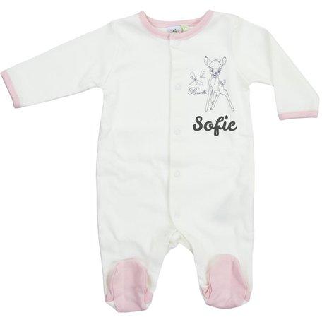 Babypakje Disney Bambi naturel met naam maat 6 maand
