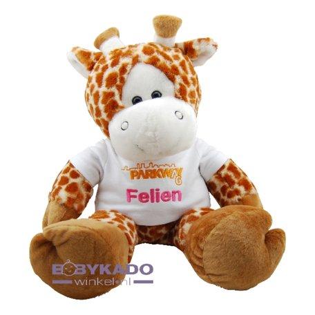Knuffel Funnies Giraf met logo