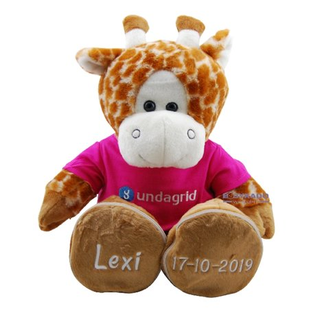 Knuffel Funnies Giraf met logo en naam