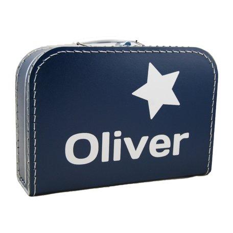 Koffertje navy blue met naam