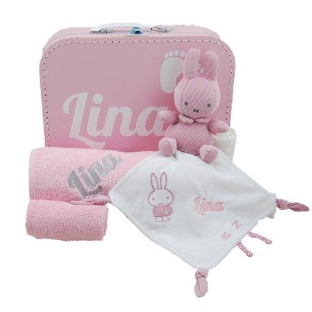 Babykoffertje nijntje roze met naam