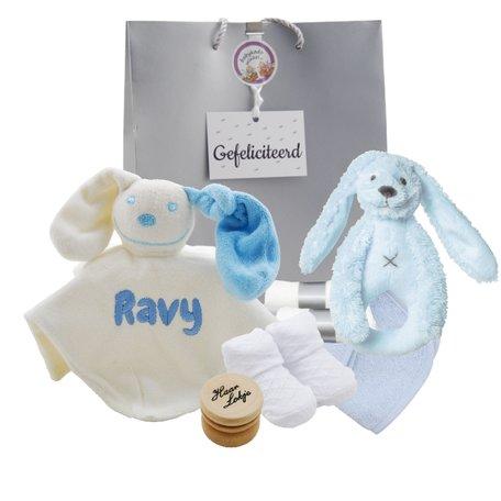 Babypakket babyblauw met naam