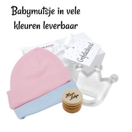 Babygiftbox Babymutsje en BamBam bijtring
