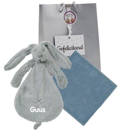 Babypakketje rabbit richie grey met naam