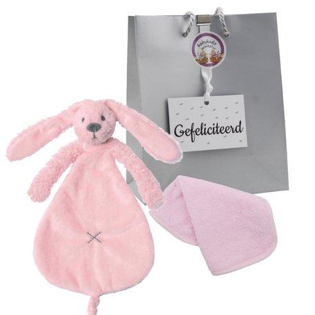 Knuffeldoekje Rabbit Richie pink