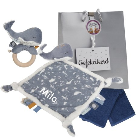 Baby cadeau little dutch blue met naam