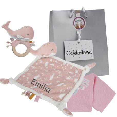 Baby cadeau little dutch pink met naam