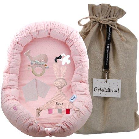 Babynest Jollein mini dots roze