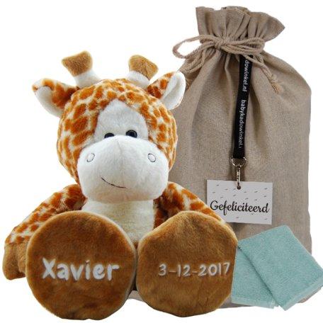Knuffel Giraf met naamborduring