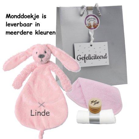 Babypakketje rabbit richie pink met naam