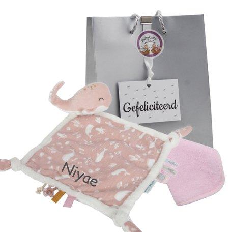 Babypakketje Little Dutch roze met naam
