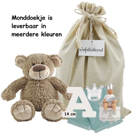 Baby Cadeauset BamBam met houten letter