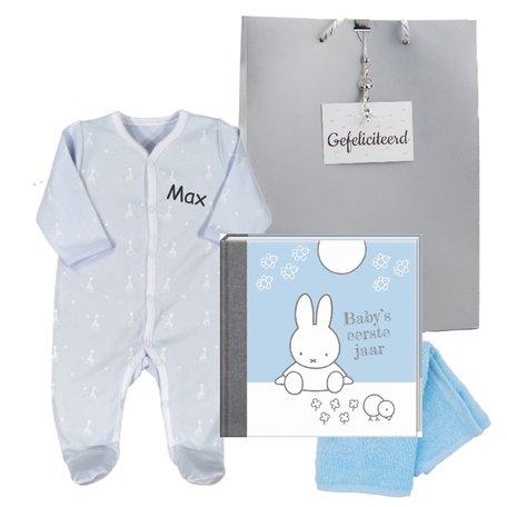 Baby Cadeauset blauw met naam