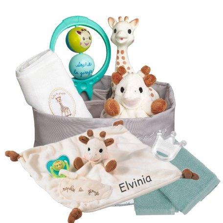 Geboortemand Sophie de Giraf met naam