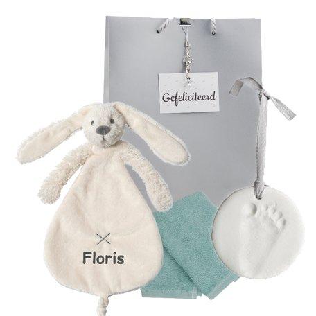Babypakketje rabbit richie ivory met naam