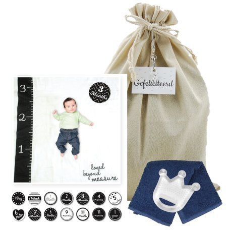Lulujo Baby's First Year Swaddle & Cards - Loved beyond measure
