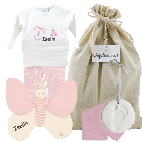 Prematuur baby cadeauset roze