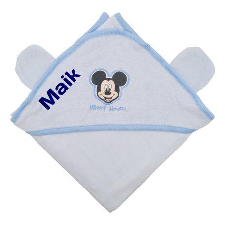 Badcape Disney Mickey Mouse blauw met naam