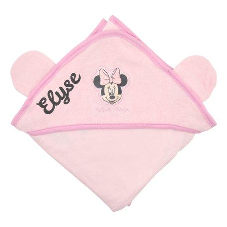 Badcape Disney Minnie Mouse roze met naam