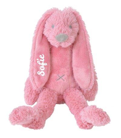 Knuffel Rabbit Richie Deep Pink met naam