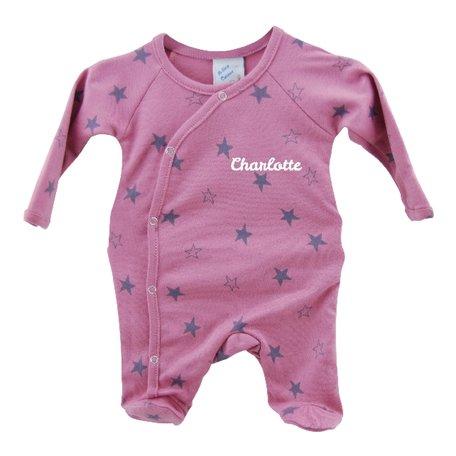 Babypakje roze sterprint prematuur met naam 44