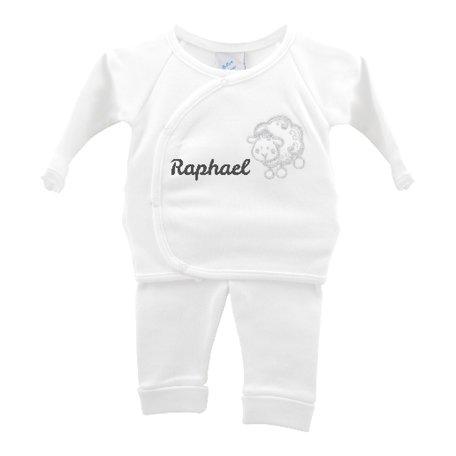 Babypakje wit schaapje prematuur met naam 44