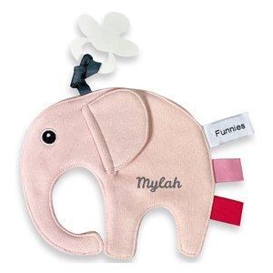 Speendoekje Funnies olifant ollie blush met naam