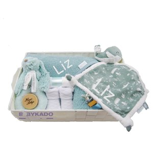 Babymand Little Dutch Walvis stonegreen met naam