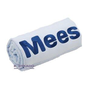 Handdoek ijsblauw met naam