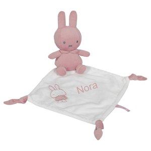Knuffeldoekje nijntje roze met naam