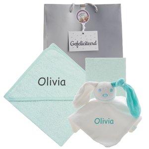 Baby cadeau mint met naam