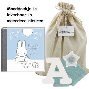 Baby Cadeauset Nijntje Boek Blauw met letter