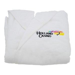 badjasje wit met logoborduring holland casino
