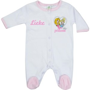 Babypakje Disney Princess wit met naam