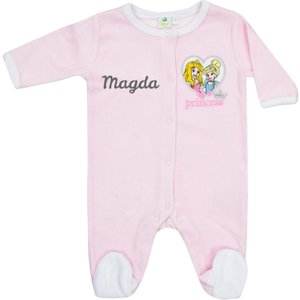 Babypakje Disney Princess roze met naam
