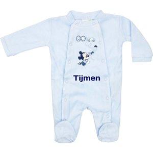 Babypakje Disney Mickey Mouse blauw met naambedrukking