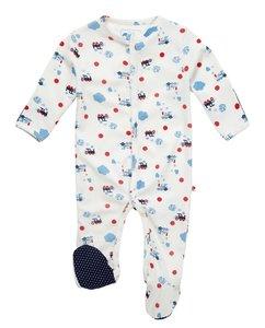 Babypakje stoomtreinprint