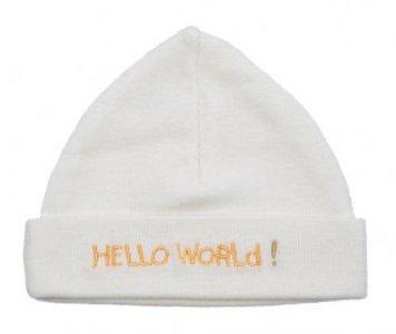 Babymutsje Hello World