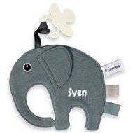 Speendoekje Funnies olifant ollie grijsblauw met naam