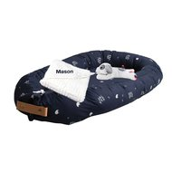 Babypakket Babynest Filibabba navy blue met naam