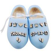 Geboorteklompjes babyblauw