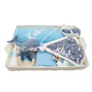 Babymand Little Dutch Walvis blauw met naam