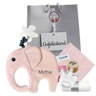 Speendoekje Funnies olifant Ollie roze met naam
