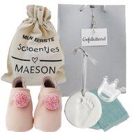 Babyslofjes Lait et Miel Roze Pompons 0-6 maand