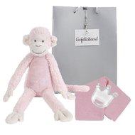 Knuffel Monkey Mickey Pink