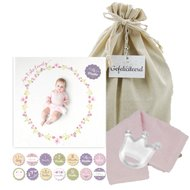 Lulujo Baby's First Year Swaddle & Cards - Isn't she lovely