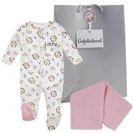 Babypakje bloemetjesprint met naam